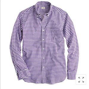 J.Crew Slim Fit Check Button Front Shirt